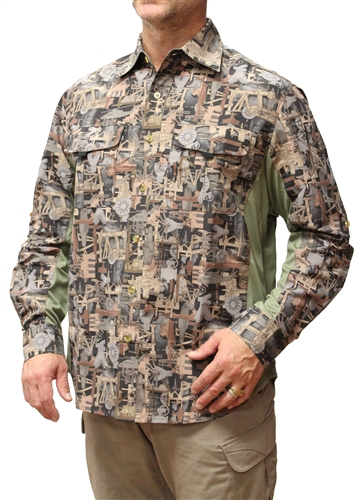 Oilfield Camo Button Down Vent Back Shirt GA1-100-LAVBS $29.99 In Stock, Eligible for Free Shipping