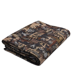 OILFIELD CAMO FLEECE THROW BLANKET