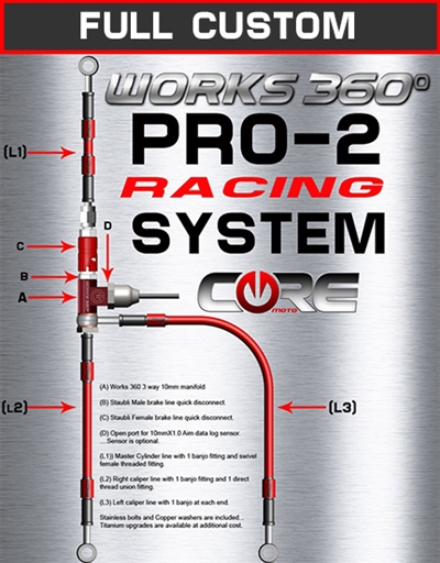 Works 360 Pro-2 front brake line race system