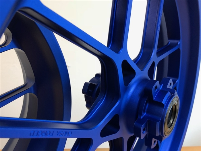BLUE Carrozzeria V-Track wheel set - SATIN FINISH
