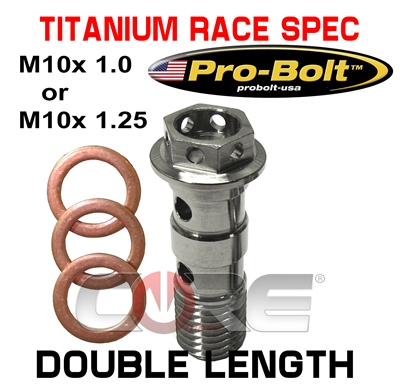 Pro Bolt USA Titanium Race Spec head Double length bolt