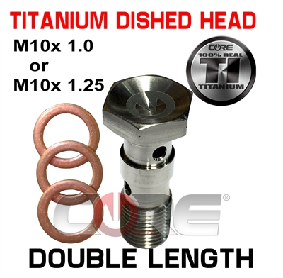 Core Moto Titanium dished head Double length bolt