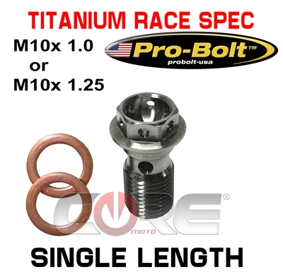 Pro Bolt USA Titanium Race Spec head single length bolt
