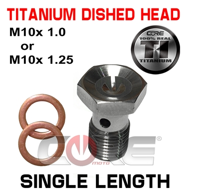 Core Moto Titanium dished head Single length bolt
