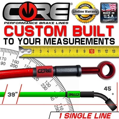 CUSTOM BUILT BRAKE LINE TO CUSTOMER MEASUREMENTS 1 LINE KIT