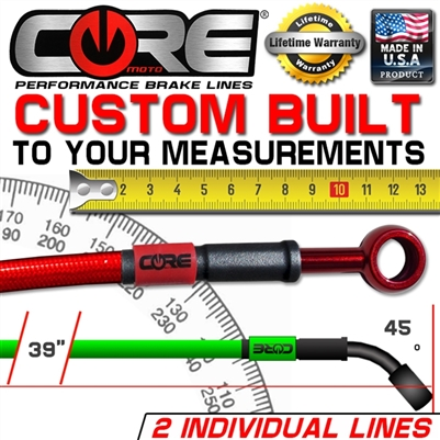 CUSTOM BUILT BRAKE LINE TO CUSTOMER MEASUREMENTS 2 LINES KIT