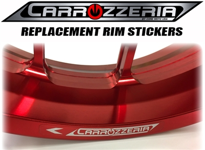 carrozzeria rim lip stickers
