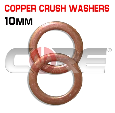 2 Core Moto 10mm Copper washers