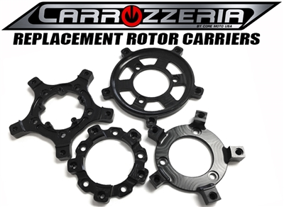 Carrozzeria motorcycle wheel rotor carriers