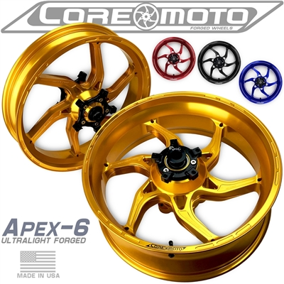 Apex-6 Forged superbike wheel by Core Moto