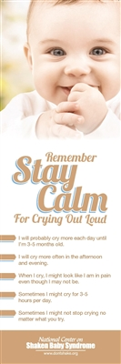 Stay Calm Bookmark