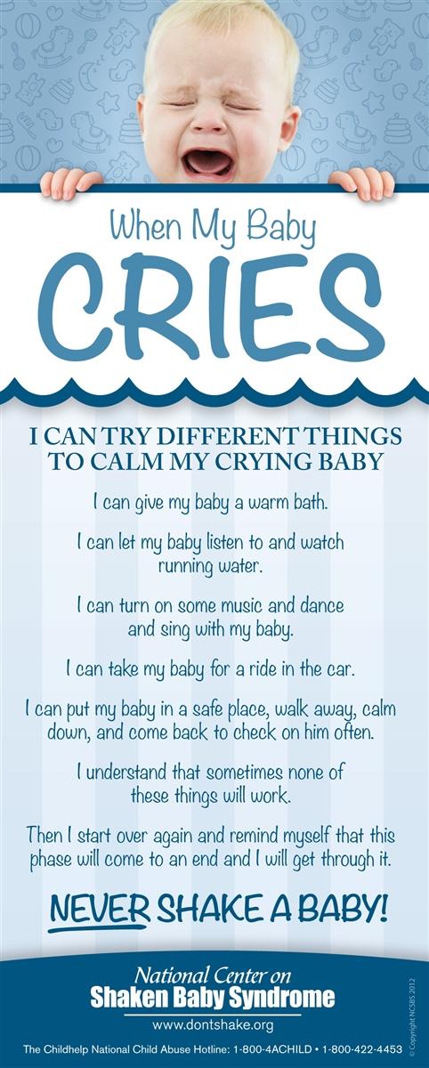 when my baby cries magnet