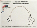 "TFP READY TO FISH SURFLON RIGS 12"" LONG 3/0 MUSTAD HOOK"