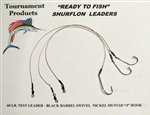 "TFP READY TO FISH SURFLON RIGS 12"" LONG 4/0 MUSTAD HOOK"