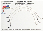 "TFP READY TO FISH SURFLON RIGS 12"" LONG #4 MUSTAD HOOK"