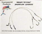 "TFP READY TO FISH SURFLON RIGS 12"" LONG 5/0 MUSTAD HOOK"