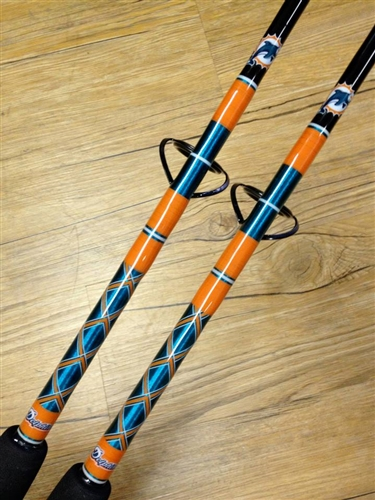 Special Order Connley Custom Fishing Rod Miami Dolphins