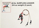 SURFLON ECONO PACK - LEADERS WITH EGG SHAPED LEAD WEIGHT