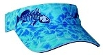 Get Reel Get Fish Ocean Blue Camo Jumbo Red Fish Visor