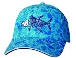 Get Reel Get Fish Ocean Blue Camo Tuna Fish Cap
