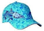 Get Reel Get Fish Ocean Blue Camo Jumbo Snook Cap