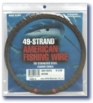AMERICAN FISHING WIRE 49 STRAND CABLE 7X7- BRIGHT 480 LB. TEST