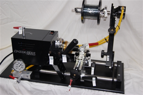 Omega gear spool tech 10050 line winder hydraulic for Fishing line spooler