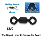 ROSCO S832-120  SERIES BLACK BARREL SWIVELS 12/0