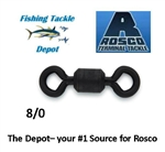 ROSCO S832-80 SERIES BLACK SWIVEL 8/0