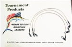 "TOURNAMENT FISHING PRODUCTS SURFLON LIGHT TACKLE LEADERS  9"" (TRI PACK- NO HOOK)"