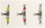 PLUNKING & DROP SHOT BRANCH SWIVELS - RED BEADS