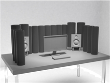 ASC Nano AttackWall Deluxe - Desktop Acoustic Environment