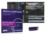 Avid Media Composer Video Editing Software - Perpetual License with USB Dongle