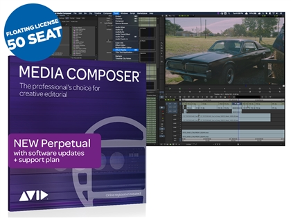 Avid Media Composer Video Editing Software - Perpetual Floating License (50 Seat)