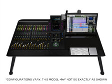 Avid Pro Tools | S6 M10 16-5 Control Surface with Producer Desk and Leg Stands
