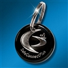 Key Ring: SCP Silver on Black