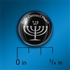 Cell Shield: Expressions of Faith - Menorah Silver on Black