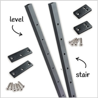 Level Railing Intermediate Pickets Black