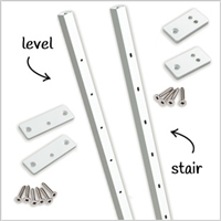 Level Railing Intermediate Pickets White