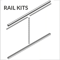 DesignRail® 42* Rail Kit for Level Railings - Black