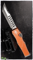 Microtech HALO 6 Hellhound Distressed Orange SW Blade