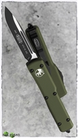 Microtech UTX-70 S/E 148-1OD Black Blade OD Green Handle