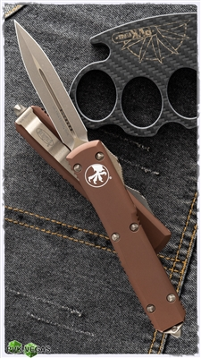 Microtech Ultratech D/E 122-13APTA Bronzed Apocalyptic Blade & HW TA Handle