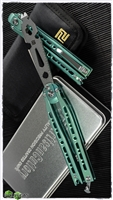 Artisan Cutlery Kinetic-Tool Automatic Butterfly Tool Green Ti V2