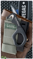 Benchmade Rescue Hook Strap Safety Cutter 7-BLKWADC w/ Foliage Green Nylon Sheath