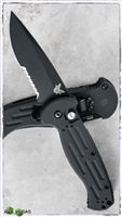 Benchmade AFO2 Armed Forces Only 9051SBK Serrated Black Blade