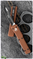 Microtech UTX-70 T/E 149-1TA Black Blade Tan Handle