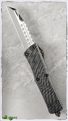 Marfione Custom Combat Warhound High Polish Blade CF Top Copper Hardware