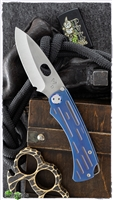 Medford Colonial T Frame Lock Knife Faced Blue Ti