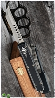 Microtech Ultratech Hellhound Signature Series 119-10DBK Apocalyptic Blade Distressed Black